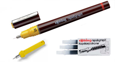 Penna e altro Rapidograph della Rotring
